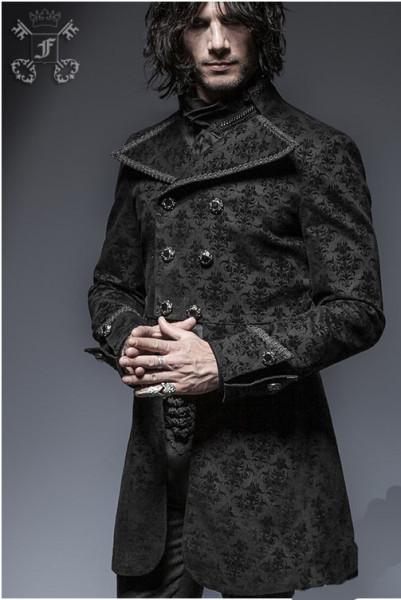 Jacke mit Stickereien und gemustertem Stoff