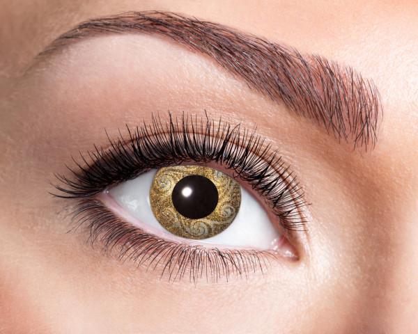 Kontaktlinsen Gold - Swirls