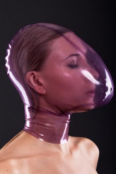 Latex Atemkontroll-Maske mit Luft