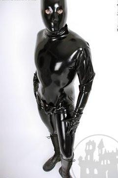 Latex Herrenmaske anatomisch - offen