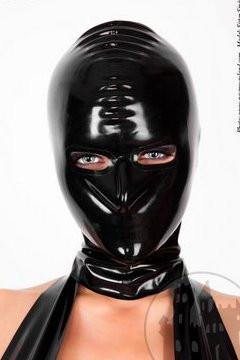 Latex Maske mit RV, Öffnungen für Augen und Nase