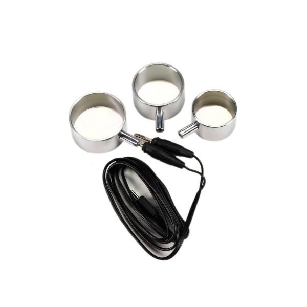 Elektro Sex Aluminium Cockring Set