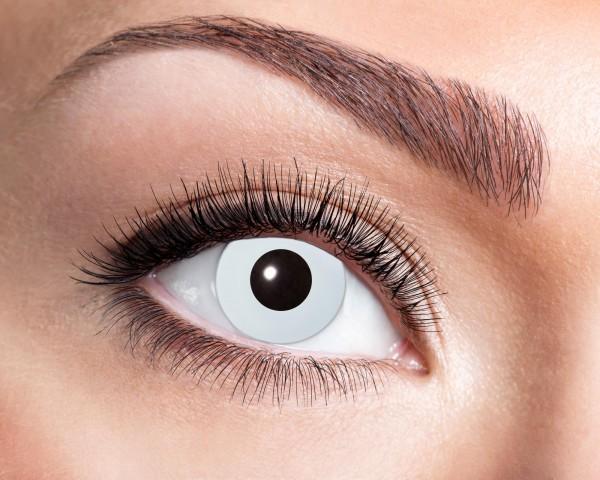 Kontaktlinsen 'Flash White' bei Tag