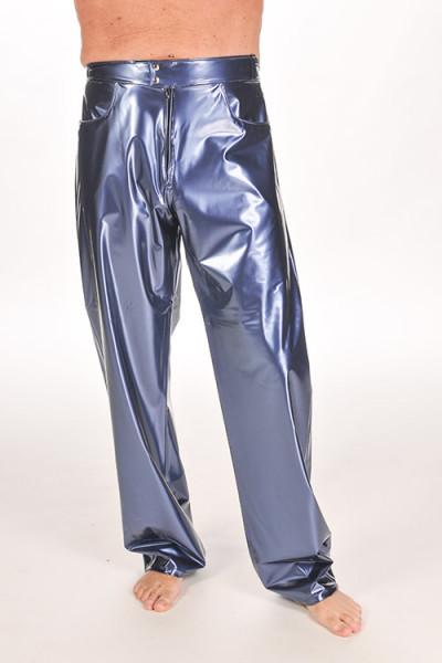 PVC jeans Silber