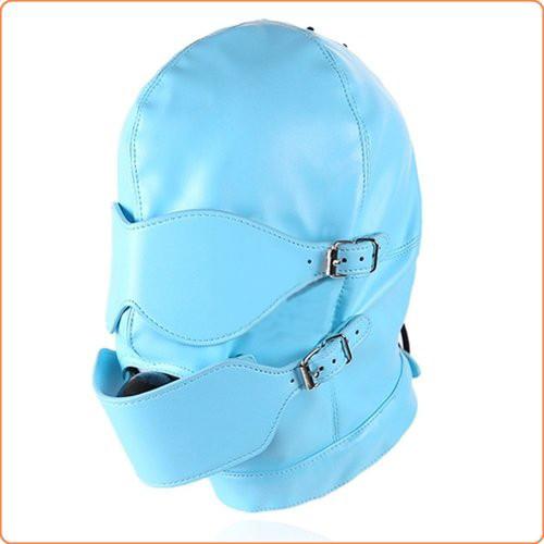 Kunstleder Kopfmaske mit Ballknebel