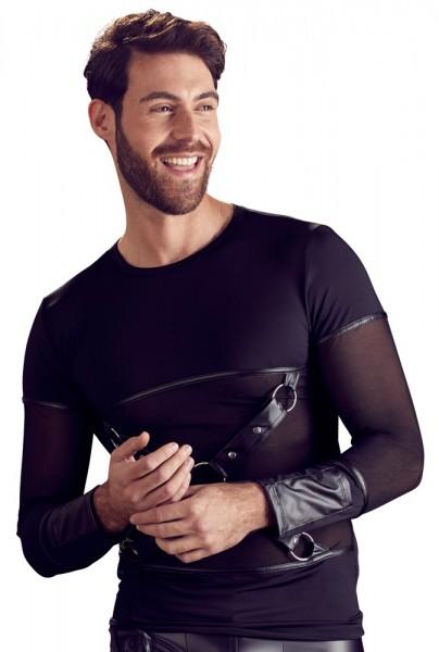 Shirt schwarz matt mit Powernetzeinsätzen