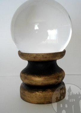 Kristallkugelhalter gold/schwarz klein