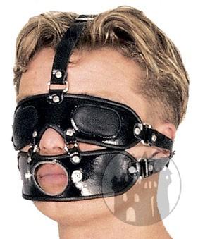 Leder Herren Kopf Harness