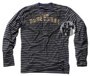 Langarm-Shirt - gestreift mit Aufdruck