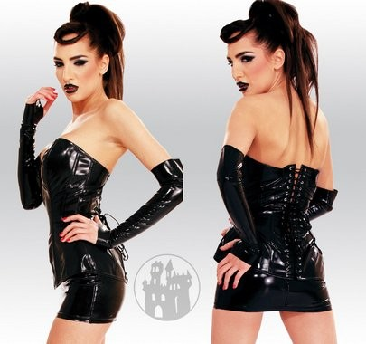 Latex Korsett aus Latex-Hybridmaterial