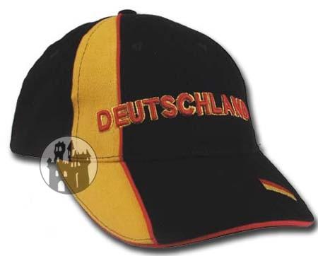 Baseballcap 'Deutschland' - mit gelben Streifen