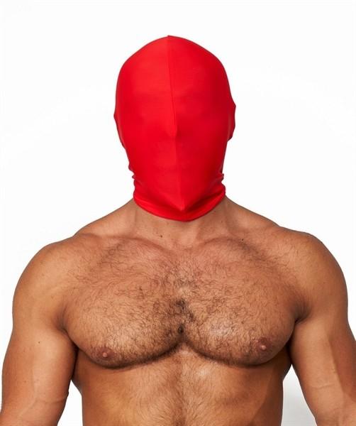 Elastische Maske ohne Löcher - rot