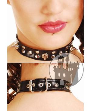 Latex Halsband mit Nieten