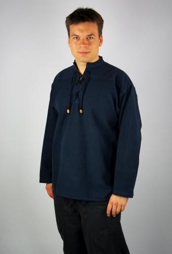 Handgewebtes Stehkragenhemd