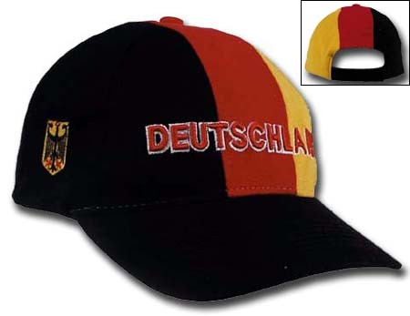 Baseballcap 'Deutschland' - Schwarz/Rot/Gelb