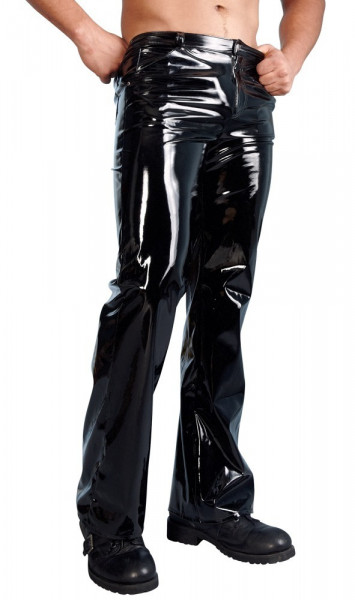Lack-Hose im 5-Pocket-Style für Männer 2