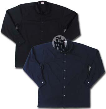 Hemd mit Knöpfen am Kragen - Schwarz