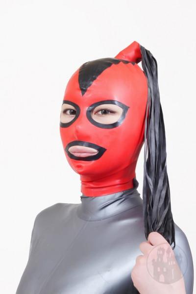 Latex Maske mit Ponyschweif