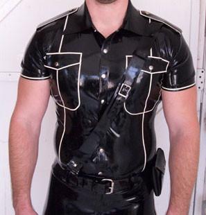 Latex Uniform Shirt für Männer