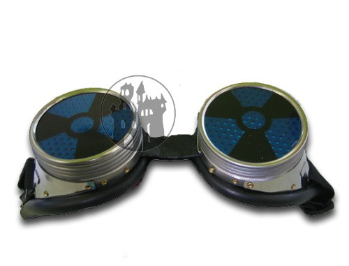 Cyber-Schweißerbrille - mit Radioaktiv-Zeichen