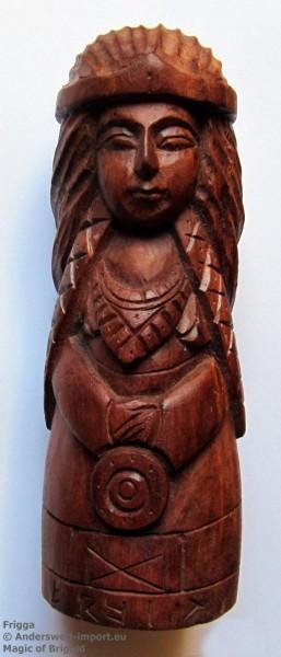 Frigga Figur aus Holz