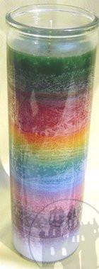 7-Tage Kerze 'Sieben Farben'