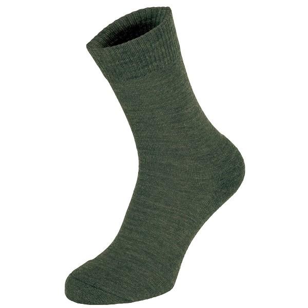 Socken oliv