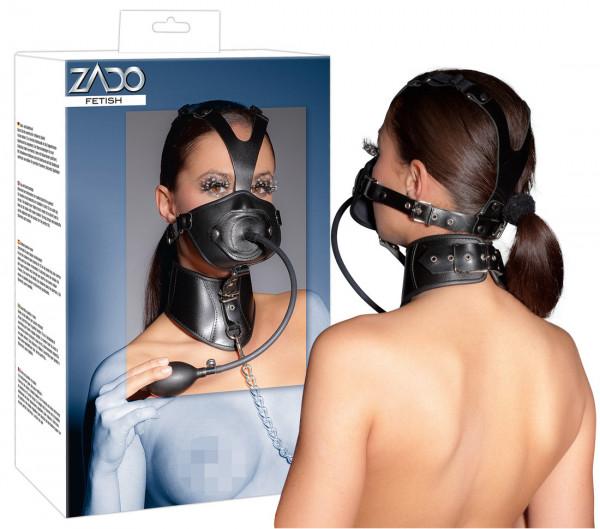 Leder-Kopfmaske