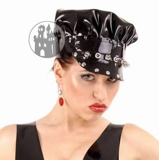 Latex Mütze mit Ziernieten