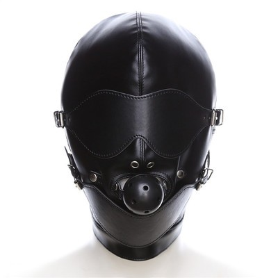 Kunstleder Maske mit Ballknebel