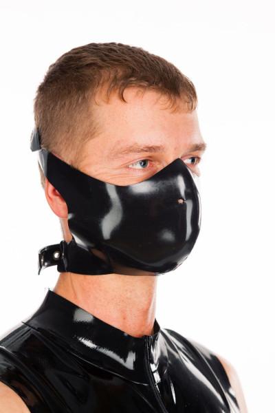 Latex Bikermaske