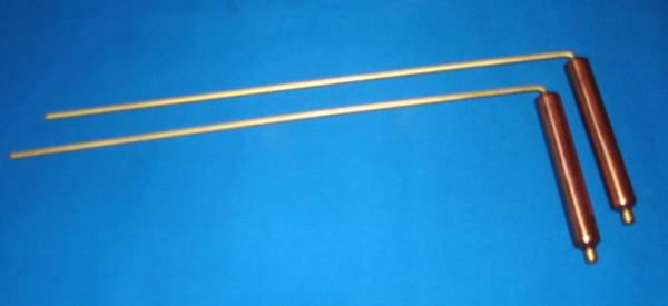 Wünschelrute mit Kupfergriff