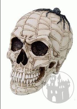 Totenschädel im Spinnennetz-Design