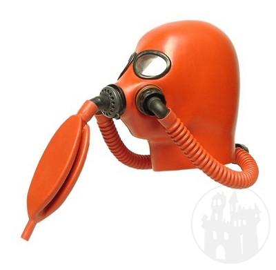 Gasmasken & -hauben aus Latex in verschiedenen Ausf