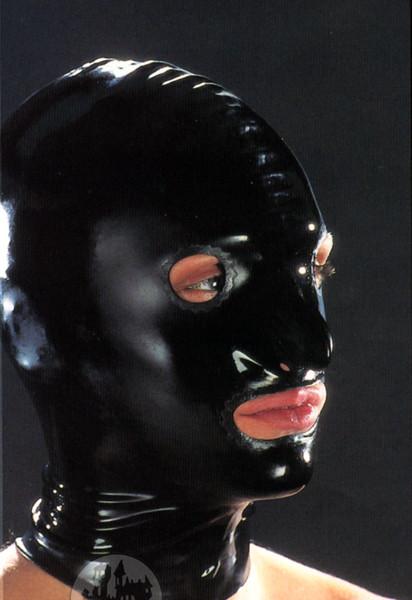 Latex Maske mit Öffnungen für Augen,Nase,Mund, getaucht
