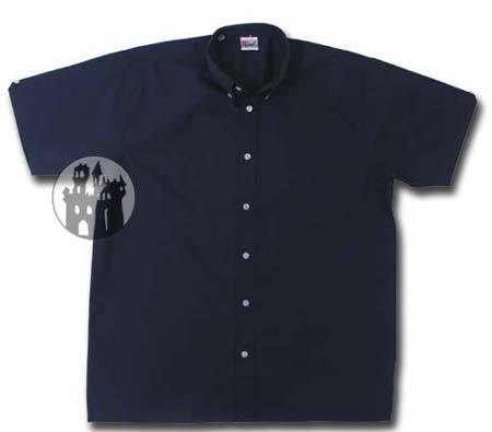Hemd mit Knöpfen am Kragen - Blau