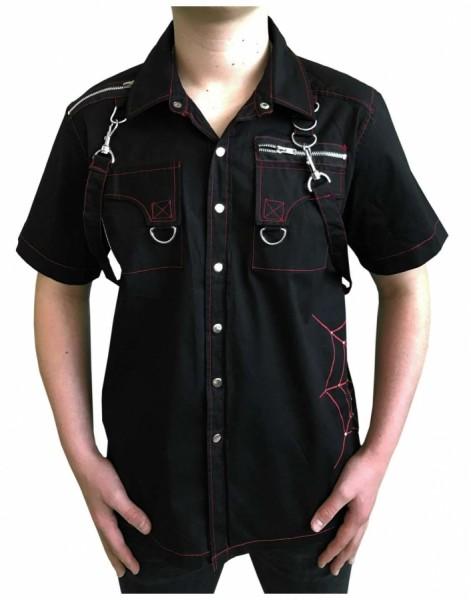 Punk Hemd mit Spinnennetz