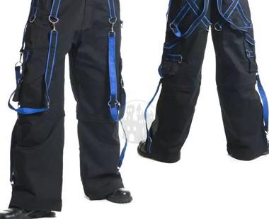 Cyber Bondage Hose mit blauen Riemen