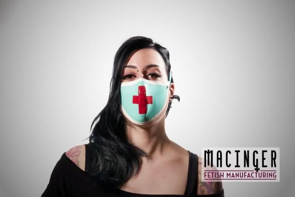 Latex Cyber-Halbmaske - Nurse - MACINGER