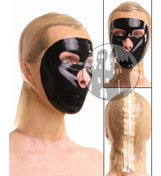 Latex Maske - halbtransparent