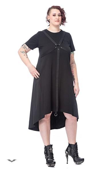 Langes Kleid mit Ringen und Bondage