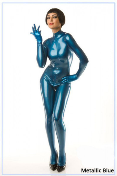 Latex Meterware - metallic blau