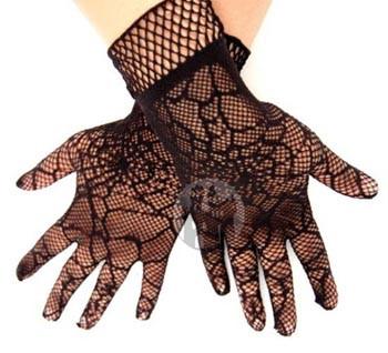 Handschuhe aus Spinnennetzspitze, weitere Armstulpen und Handschuhe aus Spitze, Netz, Lack, Leder und Latex im Fetish accessoires Shop