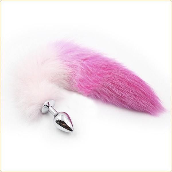 Metall Foxtail Analplug 'Bicolored'