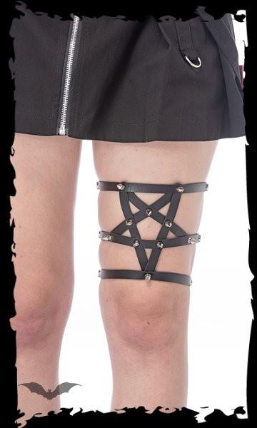 Beinholster Pentagramm mit Nieten vorne