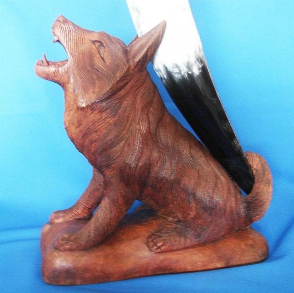 Trinkhornhalter Wolf