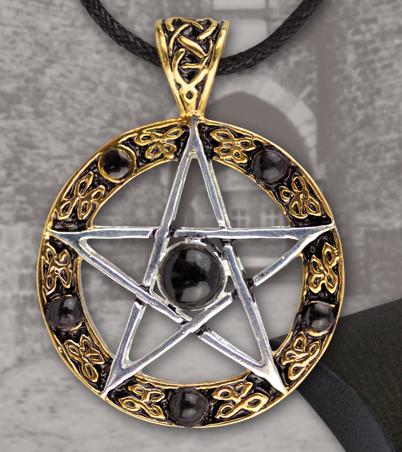 Pentagramm aus Bronze teilversilbert