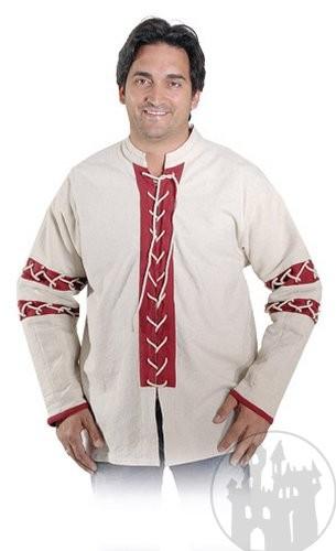 klassisches Mittelalterhemd, noch mehr mittelalterliche Herrengewandung im Mittelaltershop