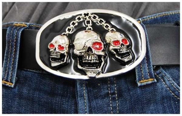Gürtelschnalle - Pirate Skulls