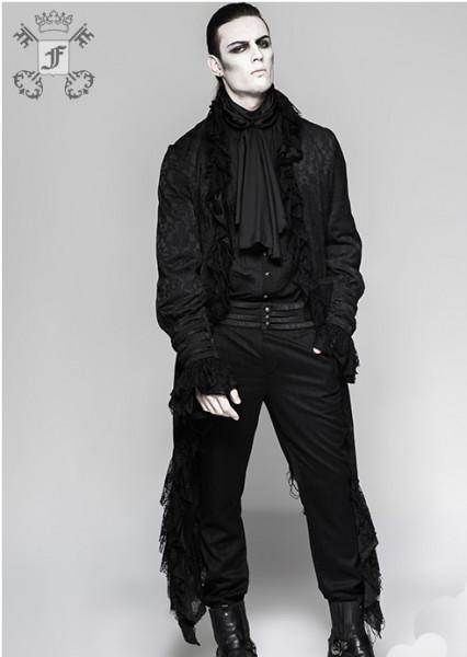 Jacke mit ausgefranstem Saum und Schnürung